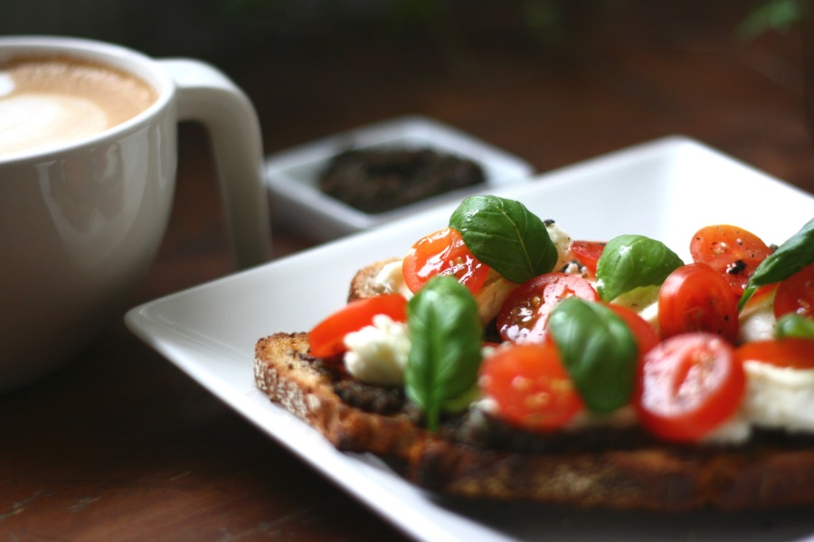 Breakfast Idea – Sourdough Bread with Home-Made Tapenade andToppings