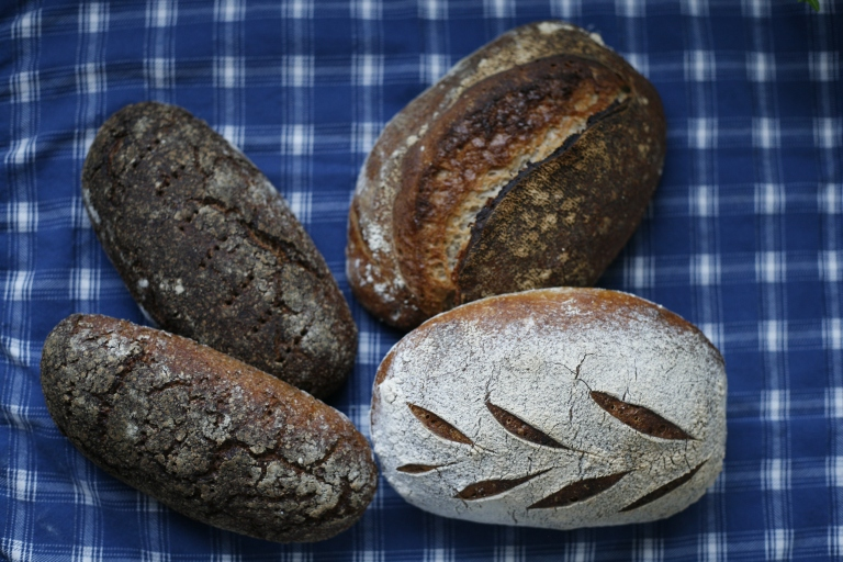 Weekend bake, rye and wheat sourdough bread